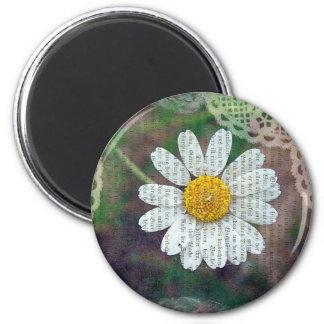 Pretty As A Daisy 2 Inch Round Magnet