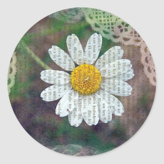 Pretty As A Daisy Classic Round Sticker
