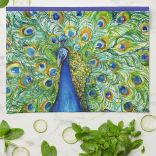 Pretty As A Peacock Hand Towel at Zazzle