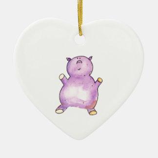 Pretty as a Pig Ceramic Ornament