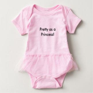Pretty as a Princess Baby Tutu Body Suit Baby-Einteiler