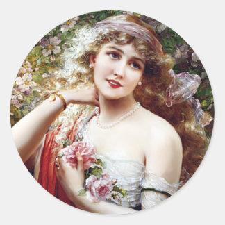 Pretty as a  Rose Classic Round Sticker