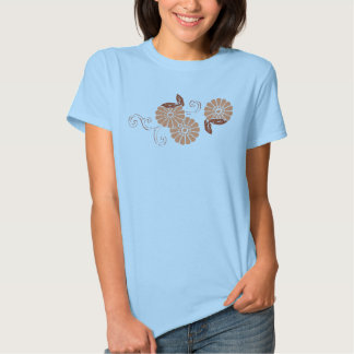 pretty as an orange flower t shirt