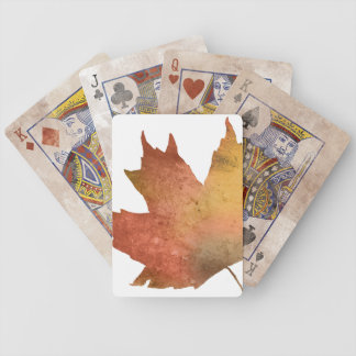 Pretty Autumn Leaves Bicycle Playing Cards