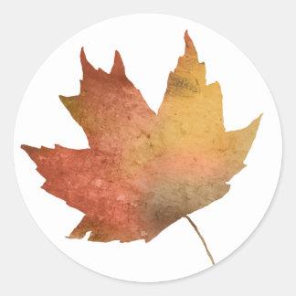Pretty Autumn Leaves Classic Round Sticker