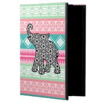 Pretty Aztec Pattern Elephant iPad Case