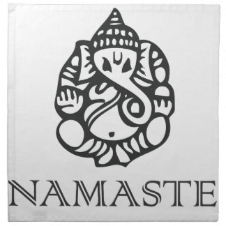 Pretty B/W Ganesh Design Cloth Napkin