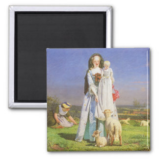 Pretty Baa Lambs by Ford Madox Brown Magnet