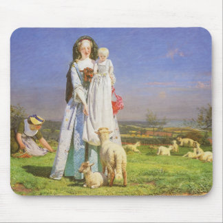 Pretty Baa Lambs by Ford Madox Brown Mouse Pad