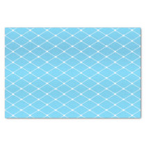Pretty Baby Blue and Diamond Pattern Tissue Paper