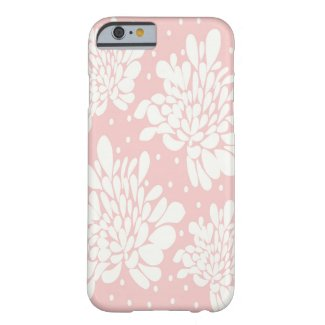 Pretty Baby Pink Floral Pattern Barely There iPhone 6 Case