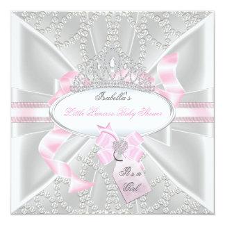 Pretty Baby Shower Girl Little Princess Diamonds 3 Custom Announcement