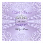 Pretty Baby Shower Girl Princess Tiara Lavender Custom Invitations