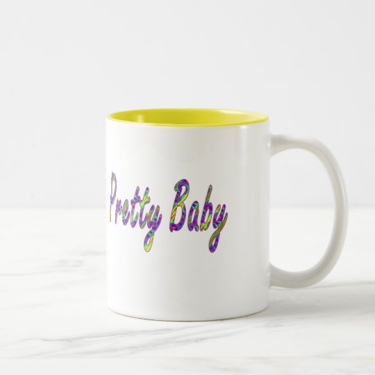 pretty baby Two-Tone coffee mug