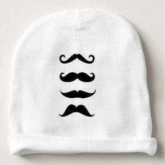 Pretty babymutsje MoU TAC moustaches!! Baby Beanie