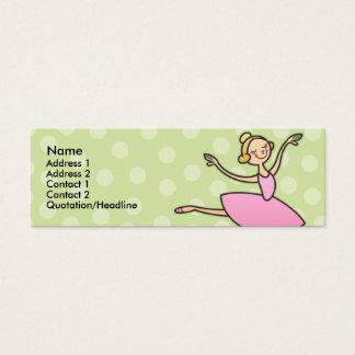 Pretty Ballerina Skinny Profile Cards