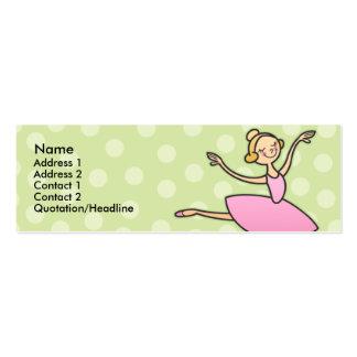 Pretty Ballerina Skinny Profile Cards Business Card