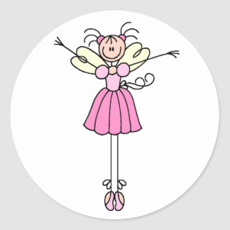 Pretty Ballerina Stick Figure Sticker