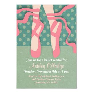 Pretty Ballet Recital Invitation