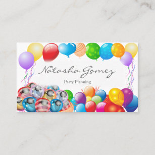 Party Supplies Business Cards