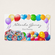 Pretty Balloon, Party Planner - Business Card at Zazzle