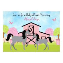 Pretty Barn Horse Baby Shower Invitations