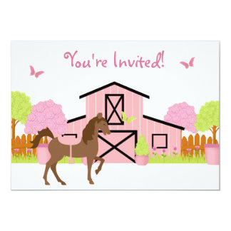 pony invitations  announcements  zazzle, Party invitations