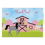 Pretty Barn Horse Thank You Cards