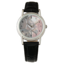 Pretty Bay Horse in a Sunlit Stable Wristwatch