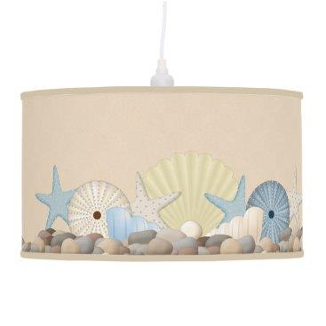 Beach Themed Pretty Beach Seashells and Urchins Ceiling Lamp