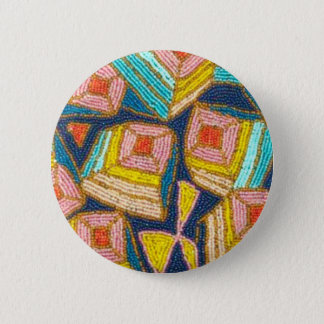 Pretty Beaded Art Deco Design Button