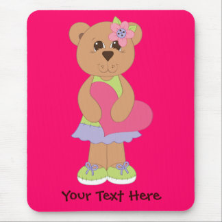 Pretty Bear (personalized) Mouse Pad