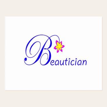 Pretty Beautician Post Card