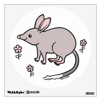 Pretty Bilby with Pink Flowers Wall Decor