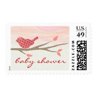 Pretty Bird Baby Shower Postage