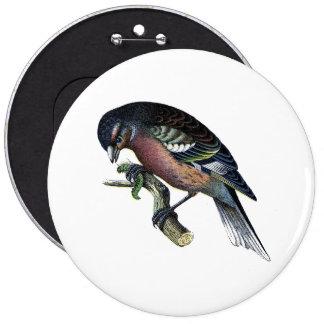 Pretty Bird on Branch Button