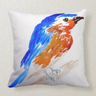 Pretty Bird Pillow Aviary Springtime Decor