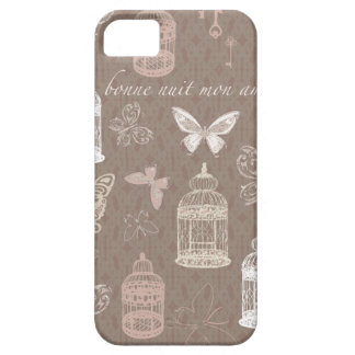 Pretty Birdcages & Butterflies Pattern iPhone 5 Cover