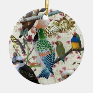 Pretty Birdies Ceramic Ornament