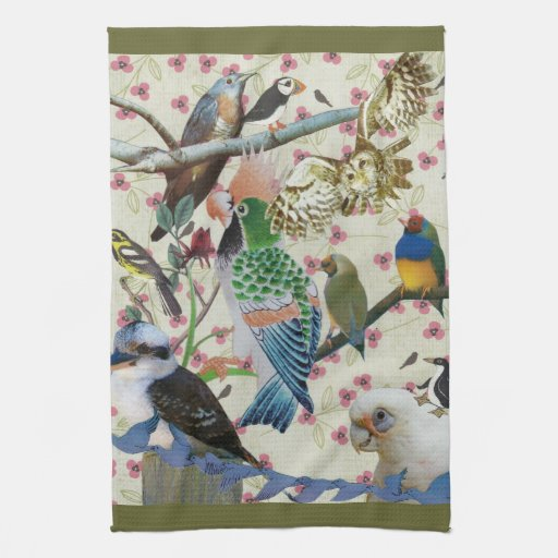 Pretty Birdies Kitchen Towels