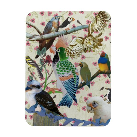 Pretty Birdies Magnet