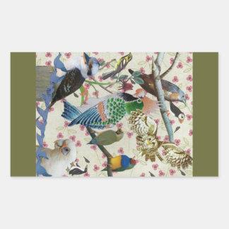 Pretty Birdies Rectangle Stickers
