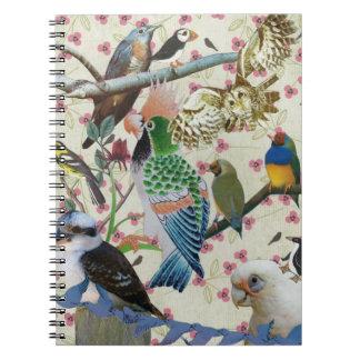 Pretty Birdies Spiral Note Books
