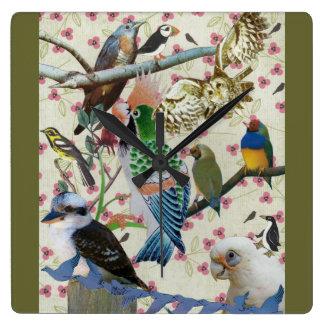 Pretty Birdies Wall Clocks