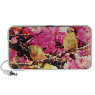 Pretty Birds and Pink Blossoms Mp3 Speakers