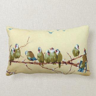 Pretty Birds Vintage Victorian Pillow Throw