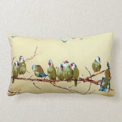 Pretty Birds Vintage Victorian Pillow Throw