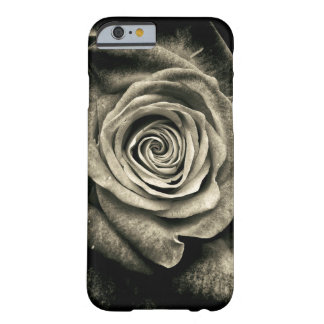 Pretty Black and White Rose Floral Case