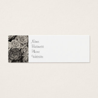 Pretty Black and White Roses Bouquet of Flowers Mini Business Card
