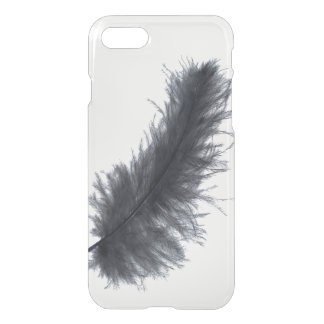 Pretty black feather tribal hipster goth clear iPhone 7 case